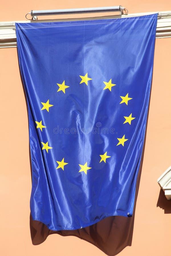 tät euflagga upp royaltyfria foton