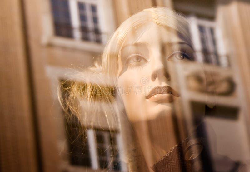 Download Tät Falsk Kvinnligsikt För Blondin Arkivfoto - Bild av öga, klänning: 523700