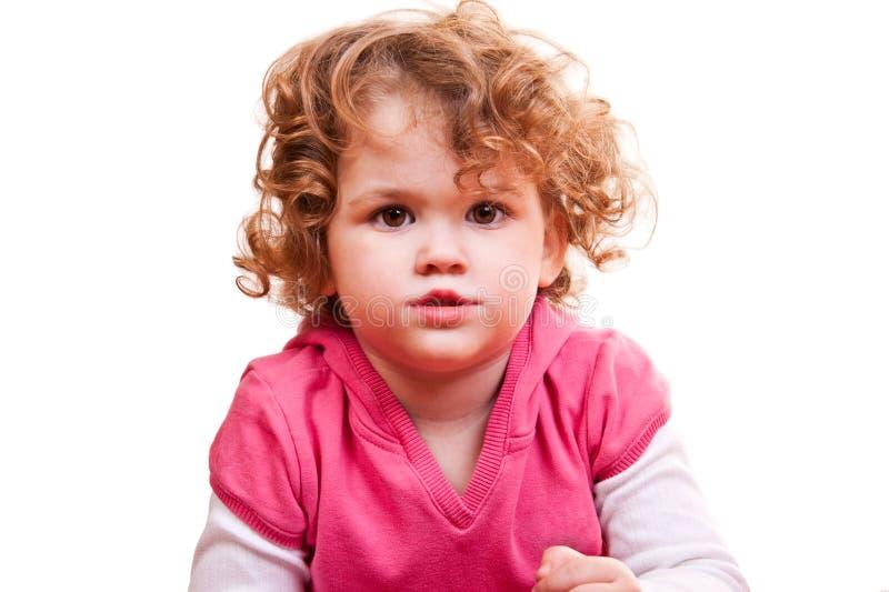 tät flicka little upp fotografering för bildbyråer