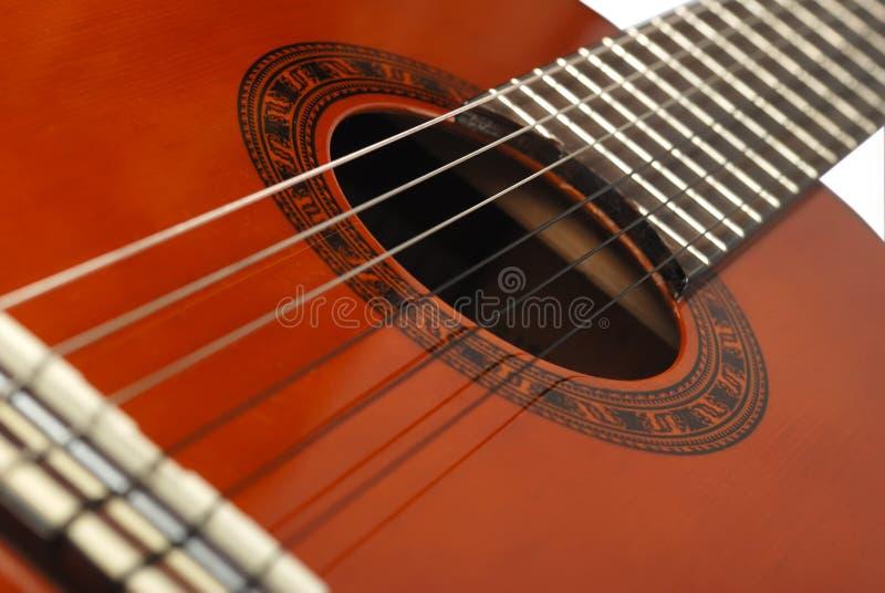 tät gitarr för bakgrund upp royaltyfri fotografi