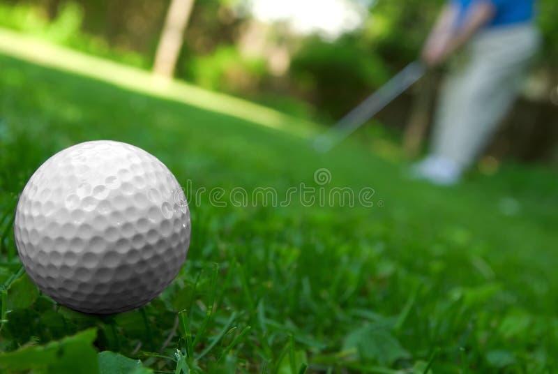 tät golf för boll upp royaltyfria bilder