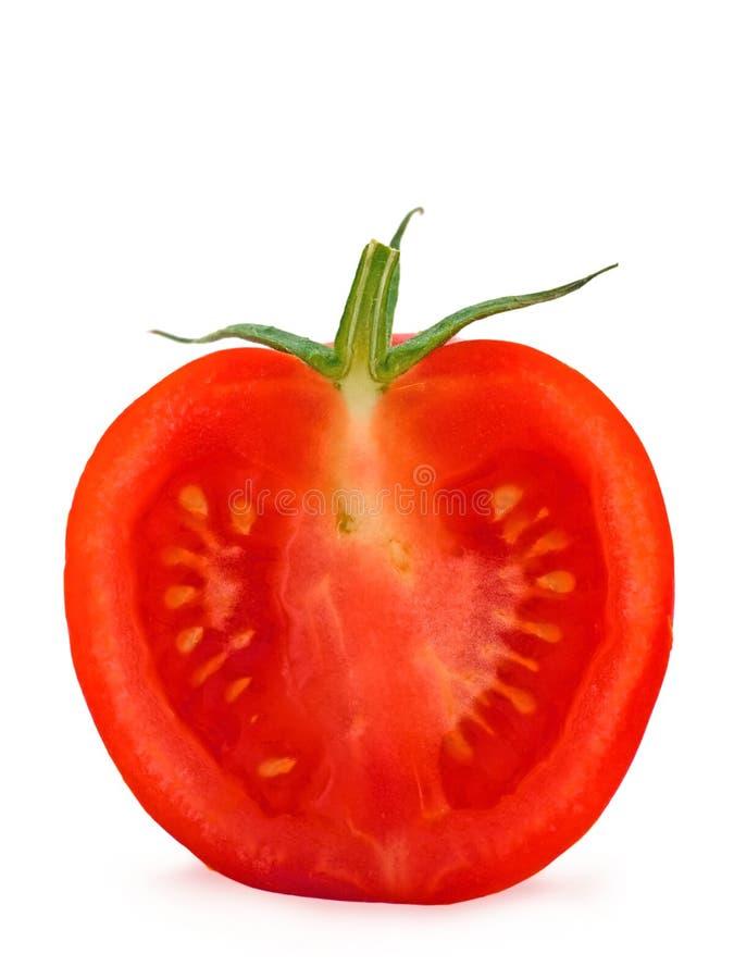 tät half tomat upp royaltyfria foton