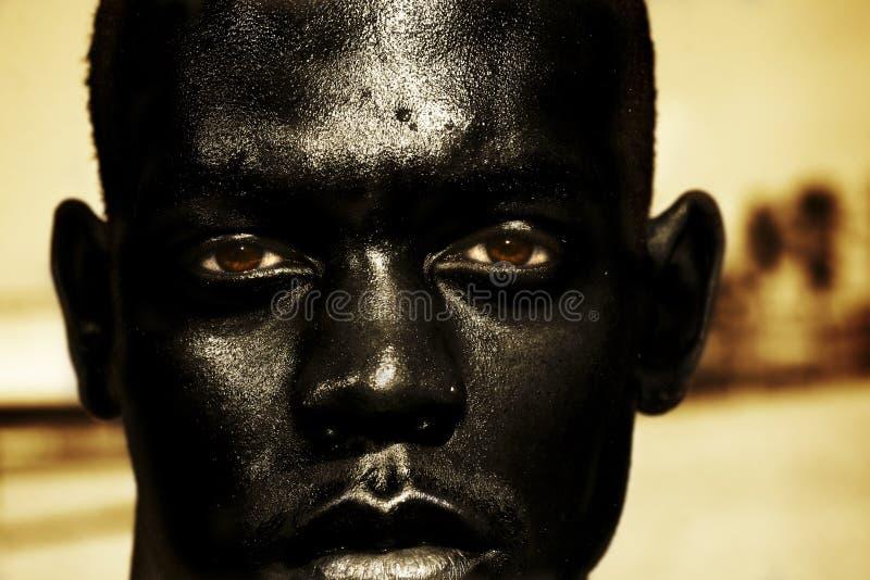 tät man för afrikan upp arkivbilder