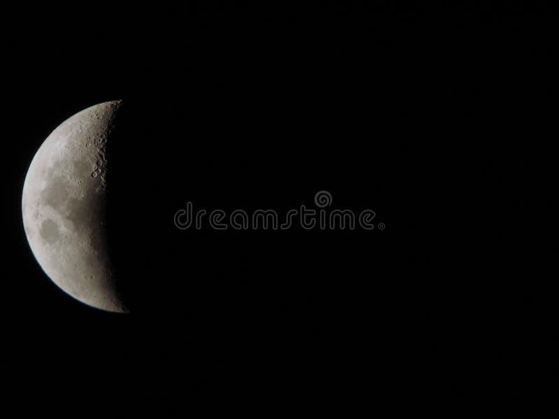 tät moon upp arkivbilder