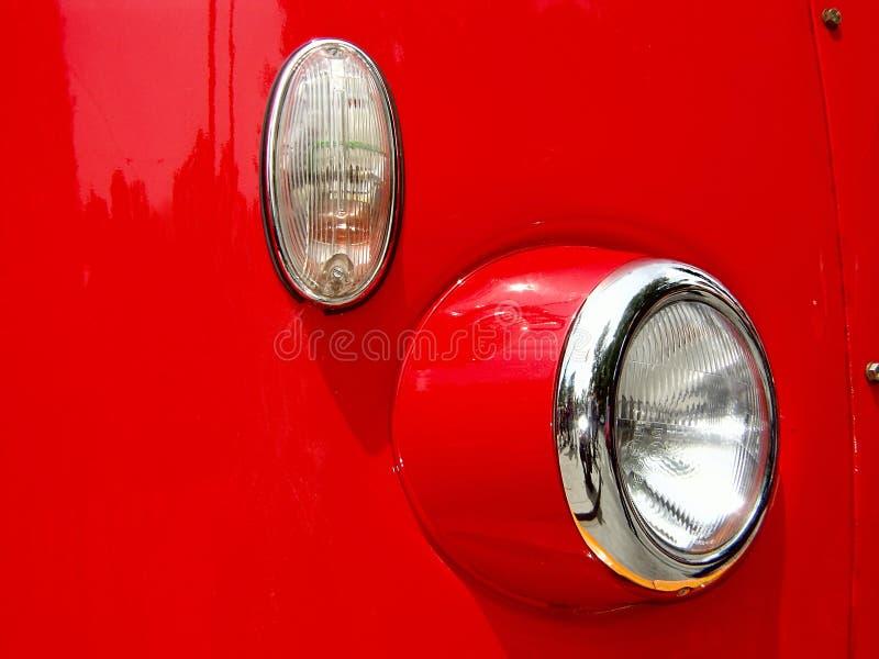 Tät Red För Buss Upp Royaltyfri Bild