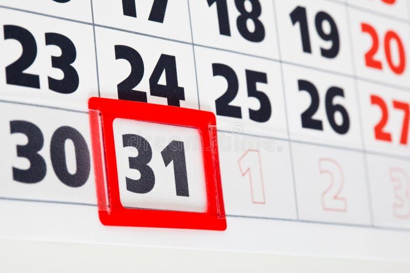 tät sida för kalender upp royaltyfria foton