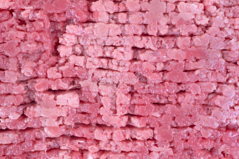 Tät sikt av nötkött skära i tärningar steak royaltyfri fotografi