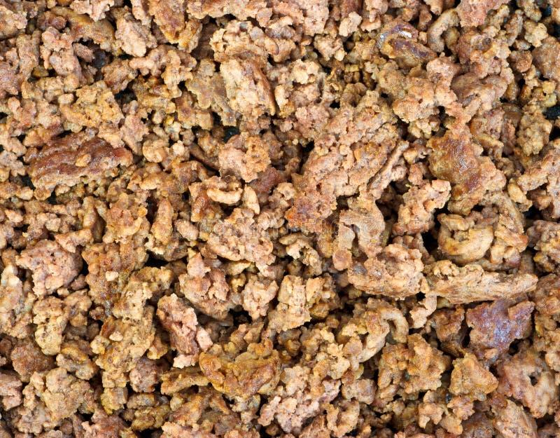 Tät sikt lagat mat jordningsnötkött arkivfoto