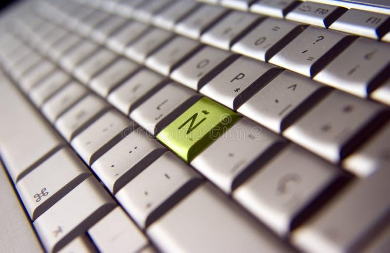 tät tangentbordspanjor upp royaltyfri fotografi