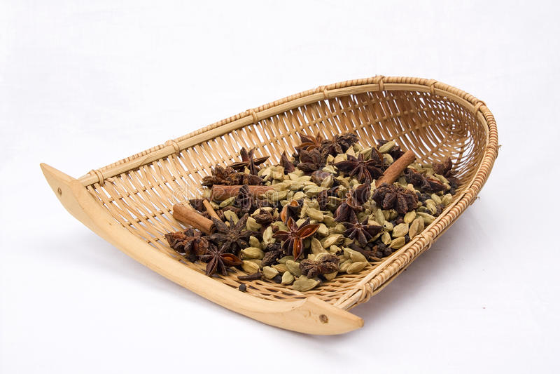 täta indiska kryddor upp royaltyfri bild