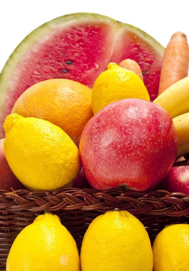 täta nya frukter upp arkivfoto