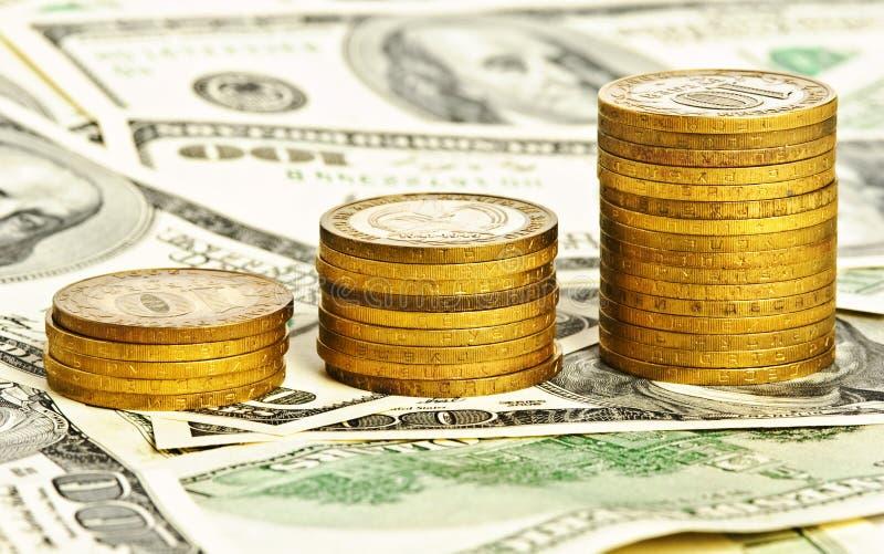 täta pengar för bakgrund upp arkivbilder