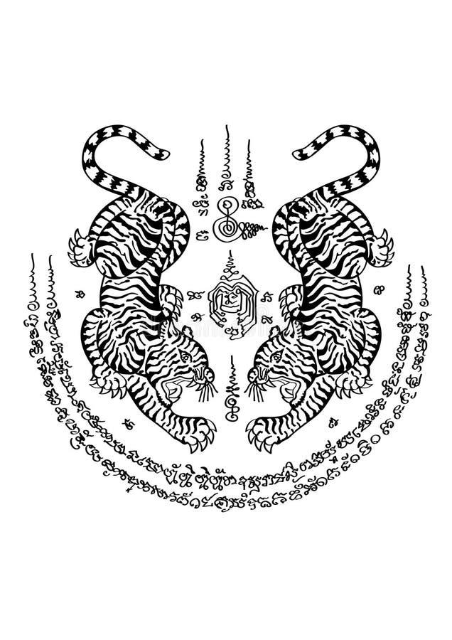 Tätowierungs-thailändische Art stockbilder