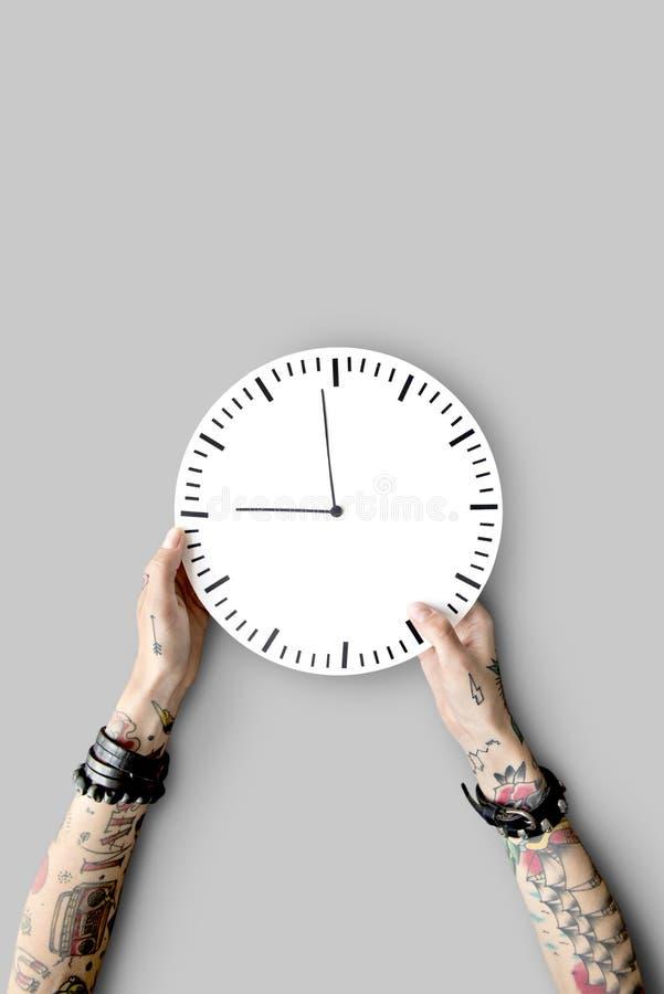 Tätowierungs-Zeitplan-Dauer-pünktliches zweites Konzept stockfotografie