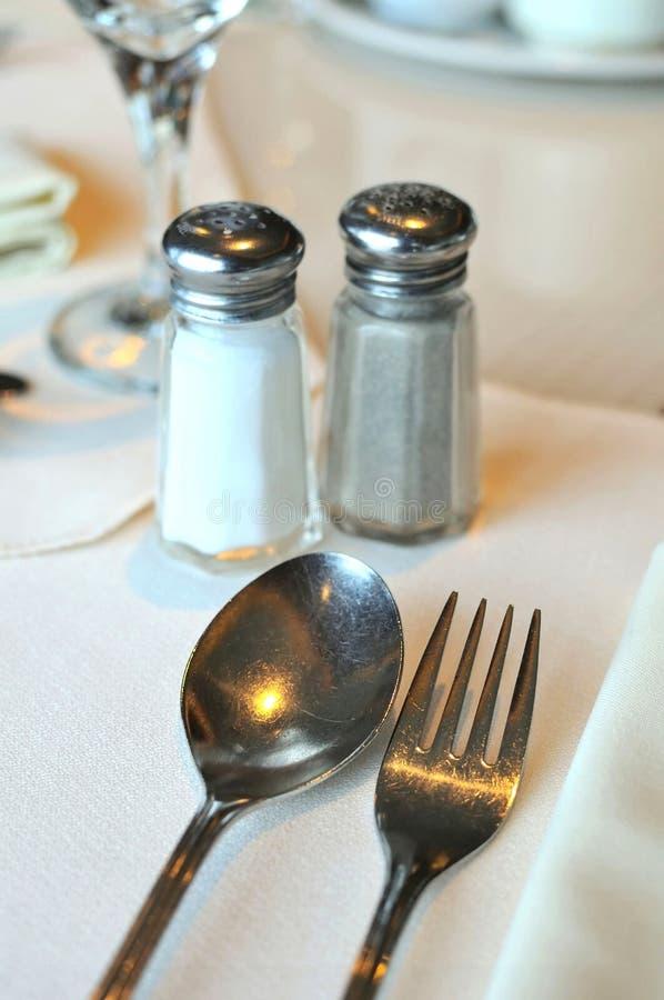 tätt äta upp utensils arkivfoton
