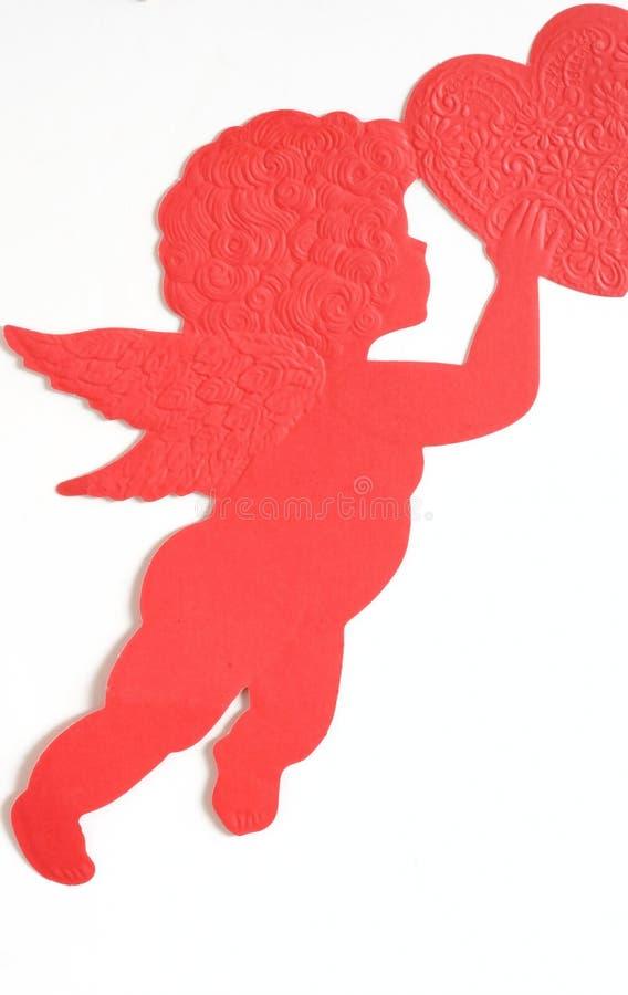 tätt övre för cherubim royaltyfria foton
