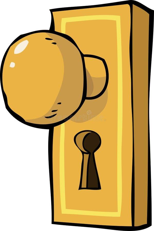tätt dörrhandtag som skjutas upp royaltyfri illustrationer