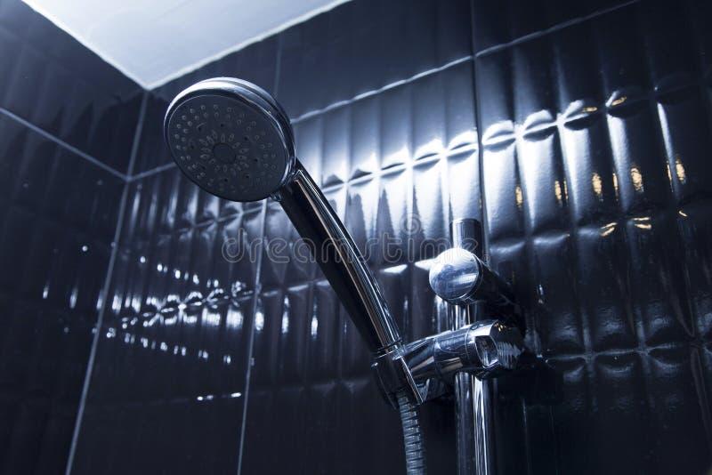 tätt huvud skjuten dusch upp royaltyfria bilder