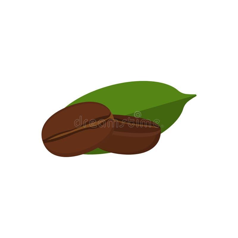 tätt kaffe för böna som skjutas upp royaltyfri illustrationer