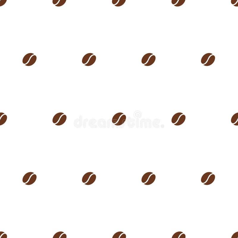 tätt kaffe för böna som skjutas upp vektor stock illustrationer