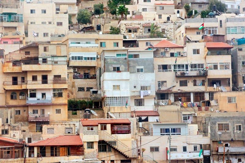 Tätt konstruerade hus - Jerusalem royaltyfri bild