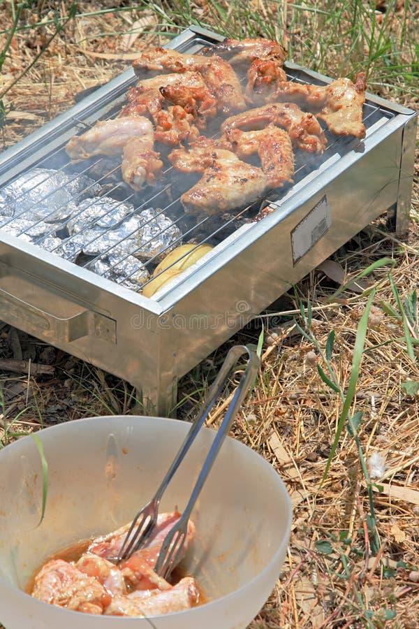 tätt matlagningmeetfoto upp arkivfoto