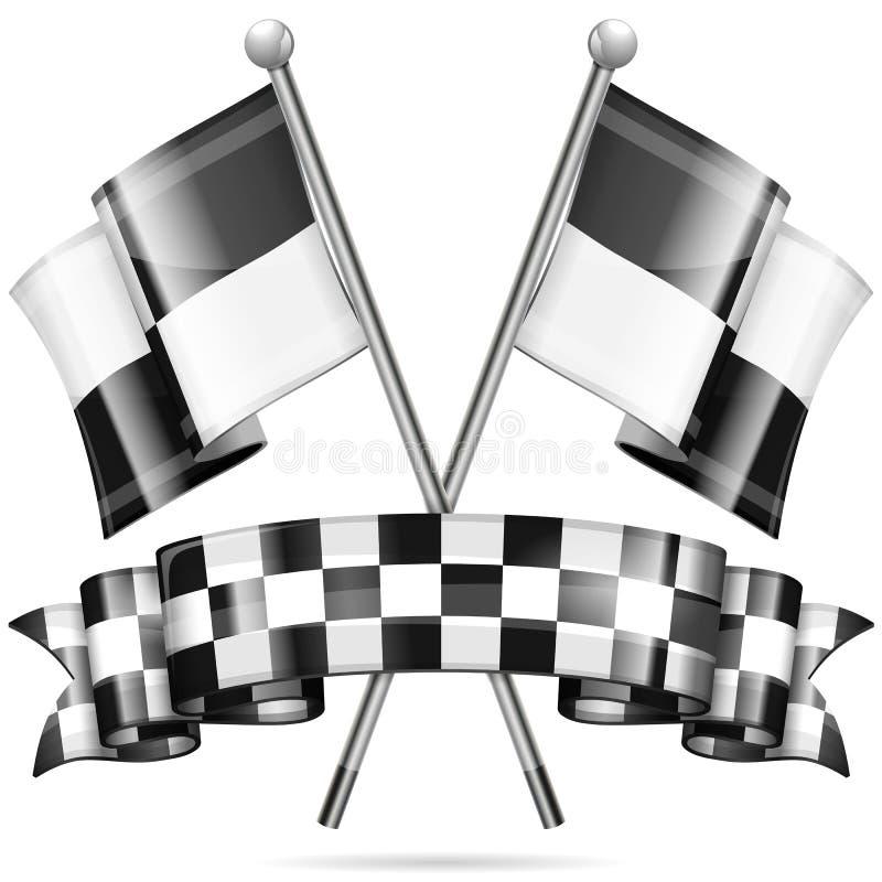 Tävlings- begrepp stock illustrationer
