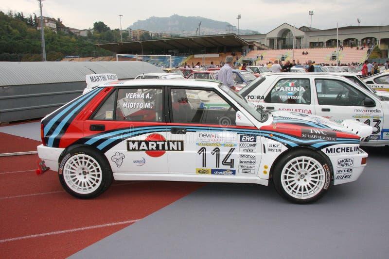Tävlings- bil för Lancia delta s4 royaltyfri fotografi