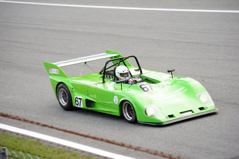 Tävlings- bil 1973 för Lola T292 DFV sportar arkivfoton
