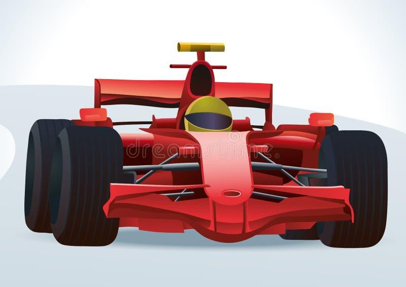 tävlings- bil f1 vektor illustrationer
