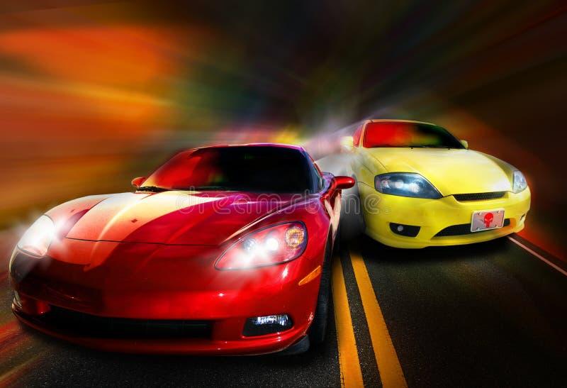 tävlings- bilar royaltyfria bilder
