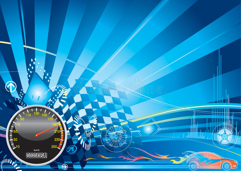tävlings- bilbegrepp stock illustrationer