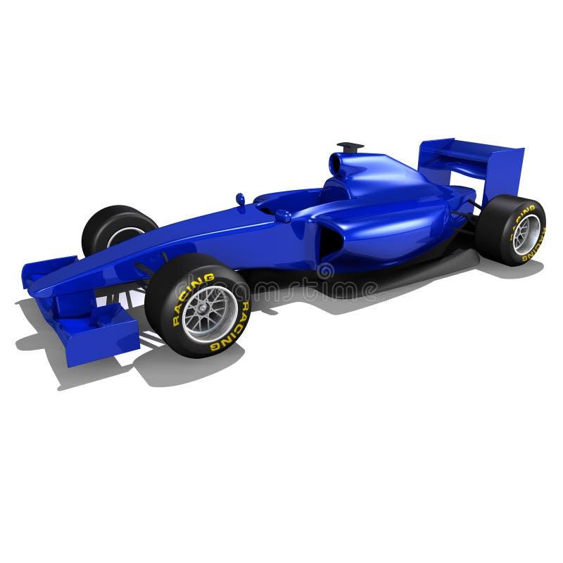 tävlings- blå bil f1 arkivfoton