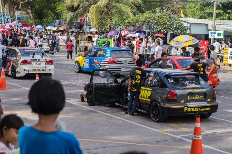 Tävlings- cirkel i den Bangsan stranden royaltyfri foto