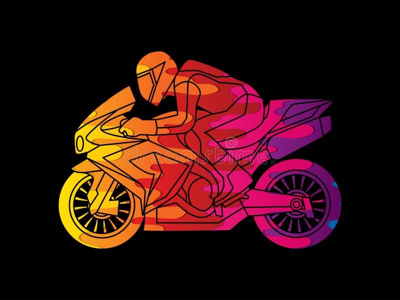 Tävlings- diagram för motorcykel royaltyfri illustrationer