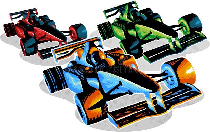 tävlings- f1 stock illustrationer