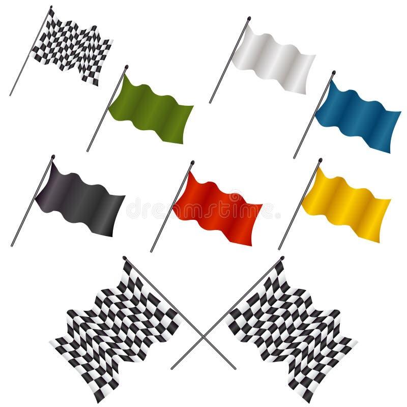 Tävlings- flaggaSet stock illustrationer