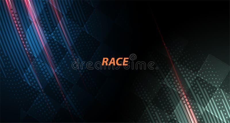 Tävlings- fyrkantig bakgrund, vektorillustrationabstraktion i bil royaltyfri illustrationer