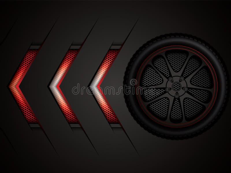 tävlings- hjul för bil royaltyfri illustrationer