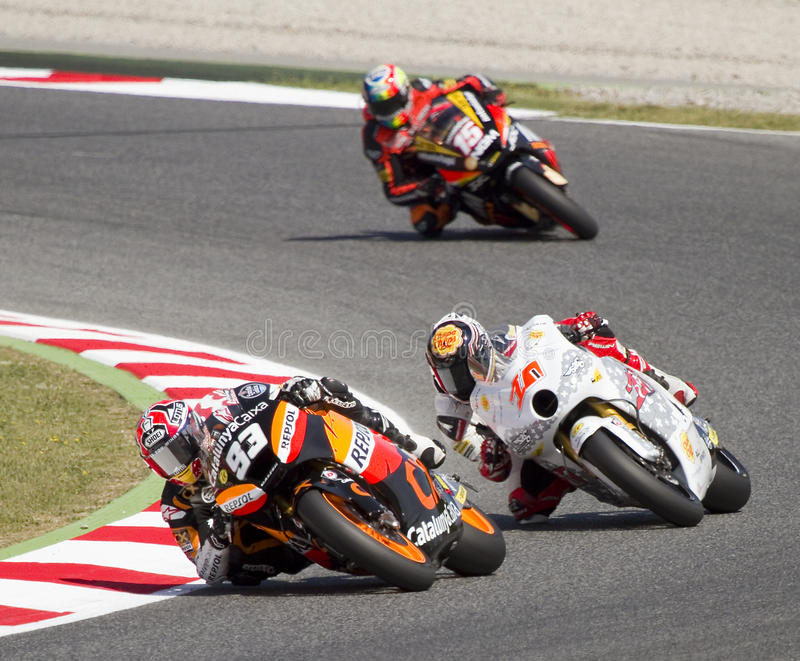 Tävlings- Motorbikes arkivbilder