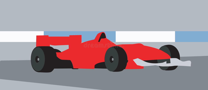 Tävlings- motorbil royaltyfri illustrationer
