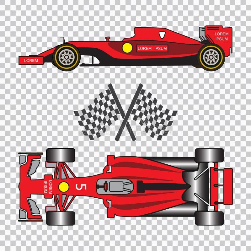 tävlings- red för bil vektor illustrationer