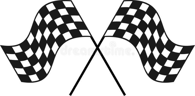 Tävlings- rutig flagga för din design eller logo royaltyfria bilder