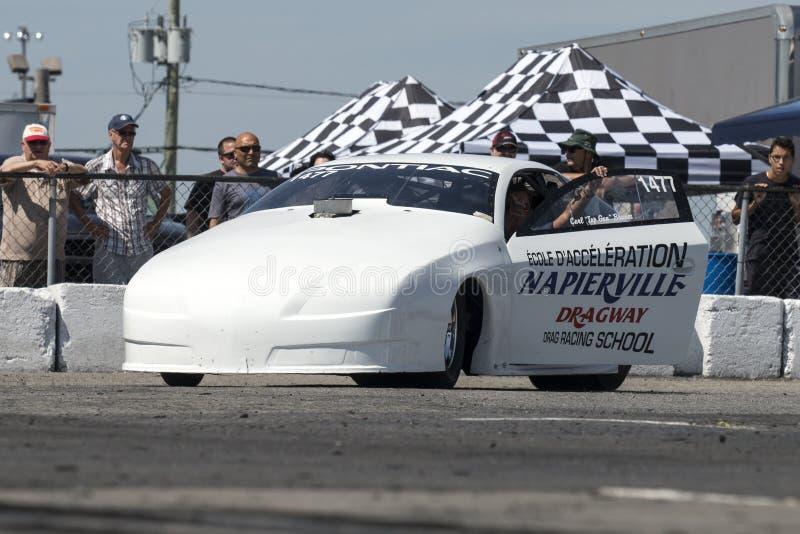Tävlings- skolabil för friktion royaltyfria foton