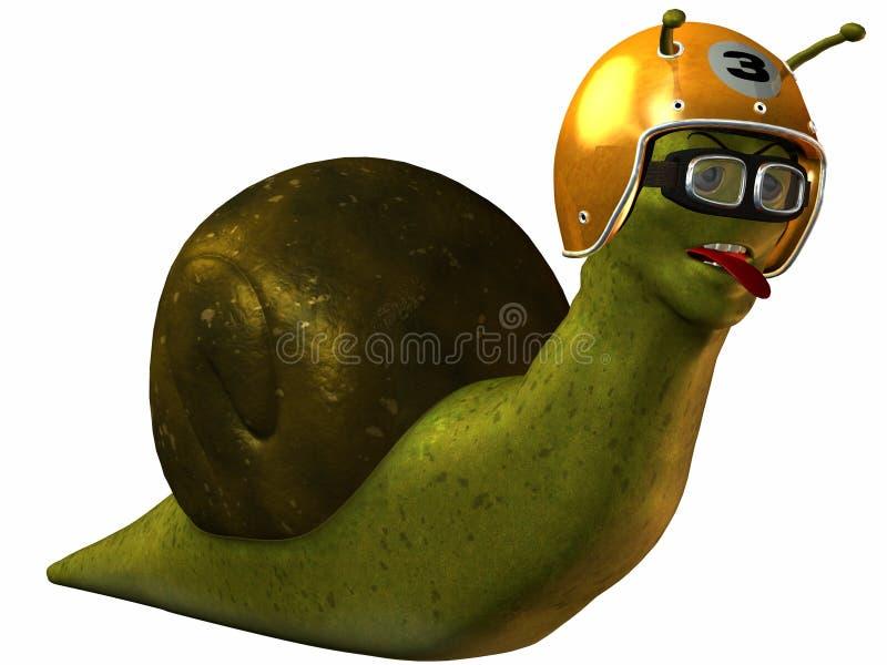 tävlings- snail toon stock illustrationer
