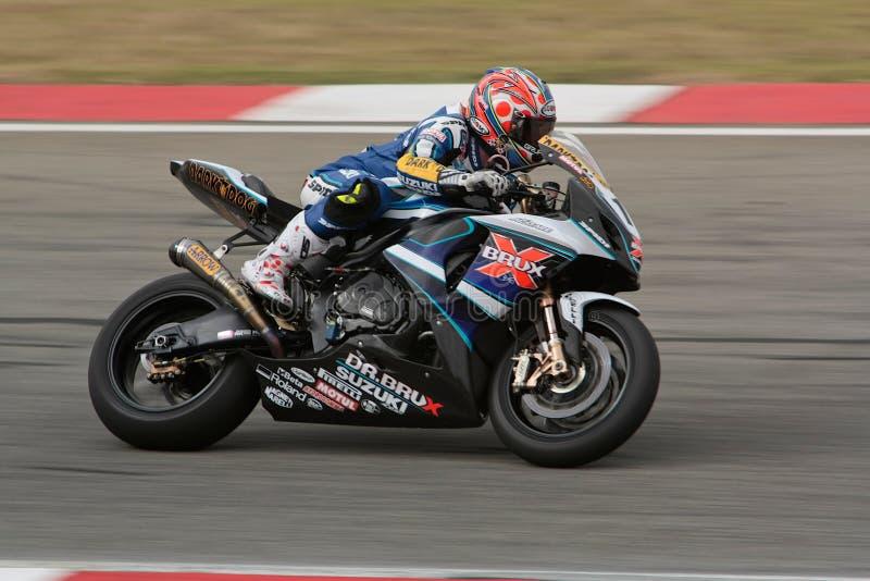 tävlings- superbike 1000 för gsx k9 r suzuki arkivbild