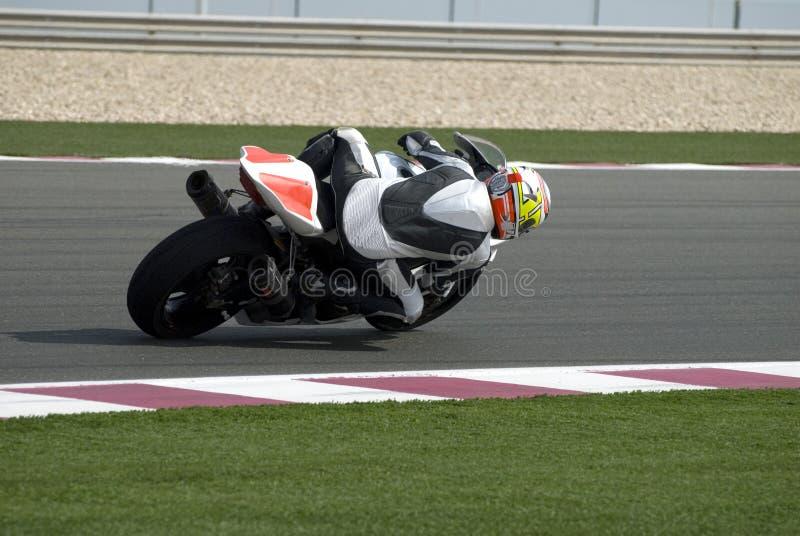 tävlings- superbikespår arkivfoto