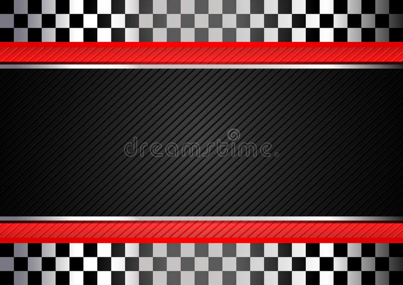 Tävlings- svart randig bakgrund royaltyfri illustrationer