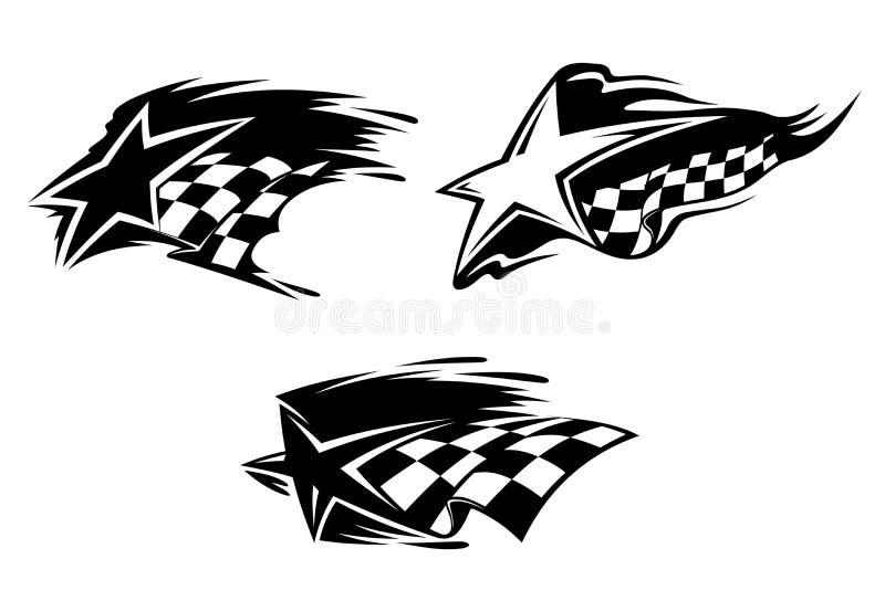 tävlings- symboler royaltyfri illustrationer