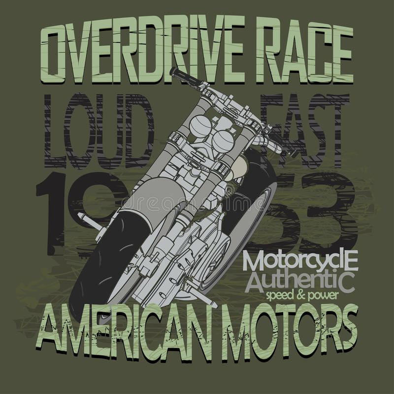Tävlings- t-skjorta för motorcykel - vektor vektor illustrationer